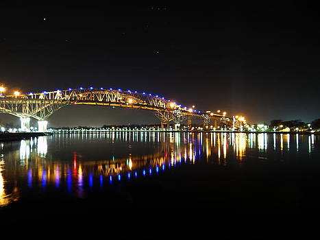 Bluewater Bridges on a Warm Spring Night by Bruce Ritchie