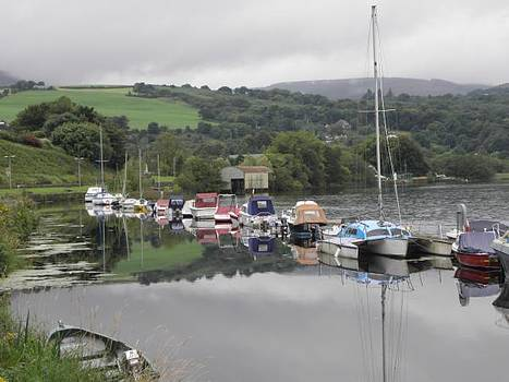 Boats at Killaloe Co Clare by Lynn Price