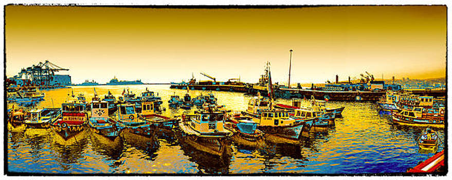 Boats at the bay by Peter Crass