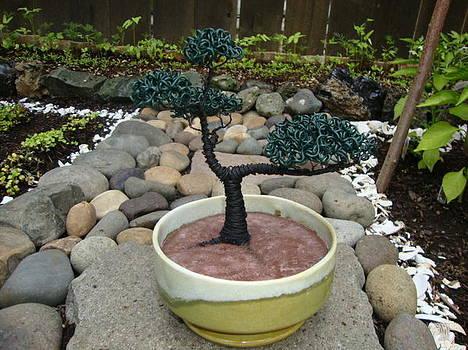 Bonsai Tree Medium Two Tone Round by Scott Faucett