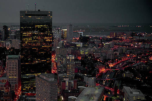 Boston By Night by Peter Verdnik