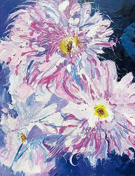 Breezy Magenta Flowers by Barbara Pearston