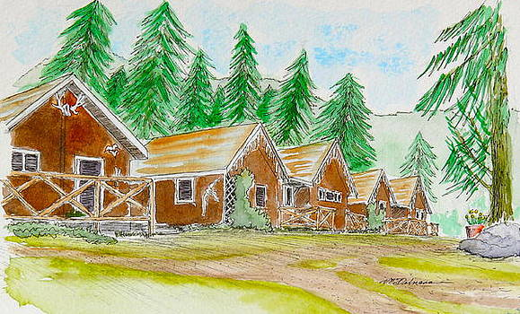 Cabins at Aigas by Vic Delnore