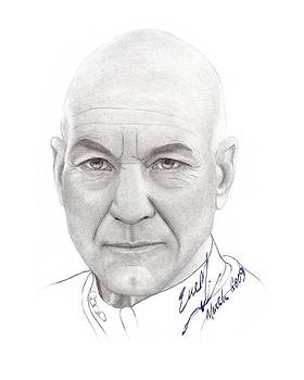 Captain Picard by Eve Maureen Marshall