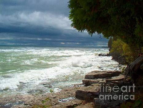 Cave Point County Park by Denise   Hoff