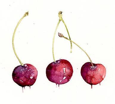 Cherries by Karen  Colenso