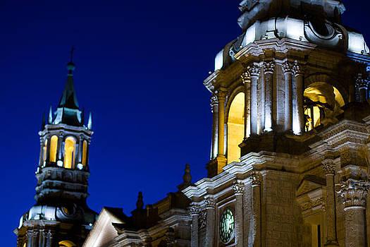 Church At Night by Kusi Seminario