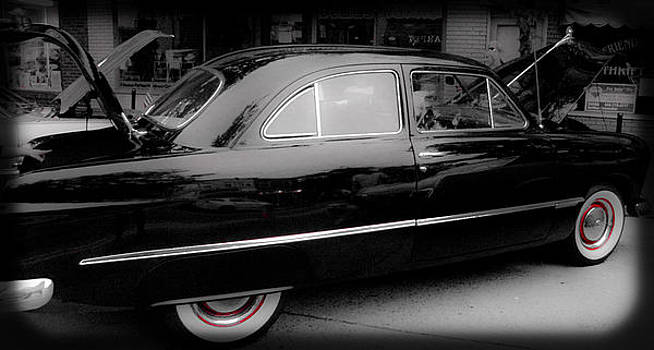 Classic Car with Red Wheels by Ruthanne McCann