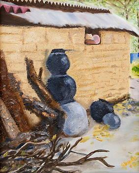 Clay Pots by Sylvia Riggs