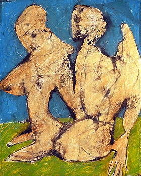 Couple In Landscape by JC Armbruster