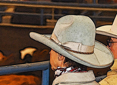 Cowgirl in the stands by Susie Fisher