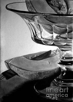 Crystal Dish With Melons by Gabor Bartal