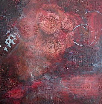 Cycle of Life in Red by Jo-ann Dziubek-MacDonald