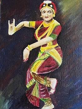 Dancing Woman by Kanthasamy Nimalathasan