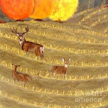 Deer in Field by Erin Mikels