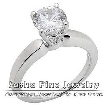 Diamond Solitaire Ring by Sasha Fine Jewelry