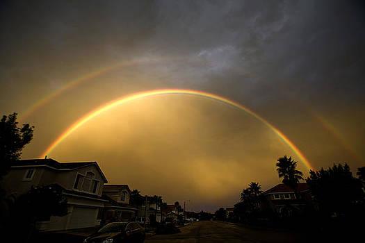 Double Rainbow Arch  by Nabila Khanam