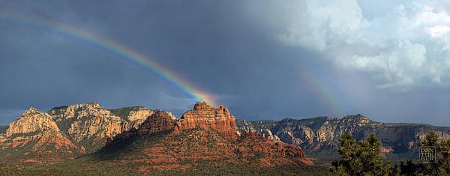 Double Rainbow Over Sedona by Dan Turner