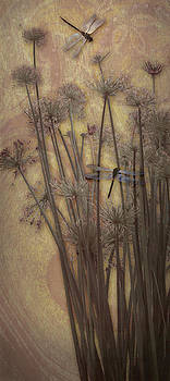 Dragonflies and Papyrus I by Antoinette Houtman
