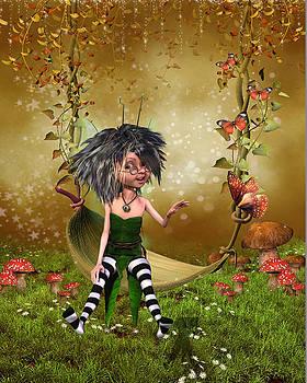Fairy sitting on a swing by John Junek