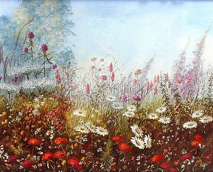 Field Of Flowers by Erika Lukacs