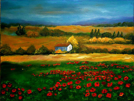 Field of Poppies by Rena Buford