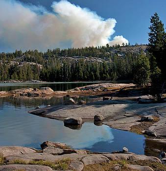 Fire at Strawberry Sierra Nevada Wildfire California Landscape Larry Darnell by Larry Darnell