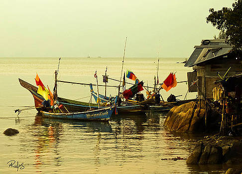 Fisherman Boats by Allan Rufus