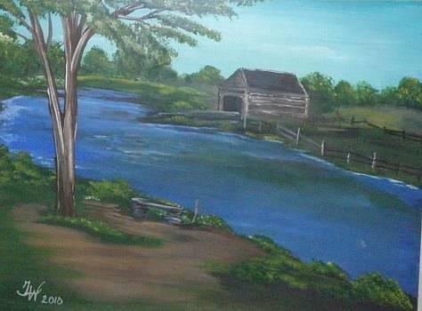 Fishing Downstream by Trisha Ward