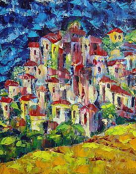 Forteen Little Yellow Huts by Avi Gorzhaltsan