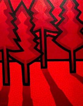 Four Red Pines by John  Nolan