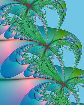 Fractal - Spring Colors by Karen R Scoville