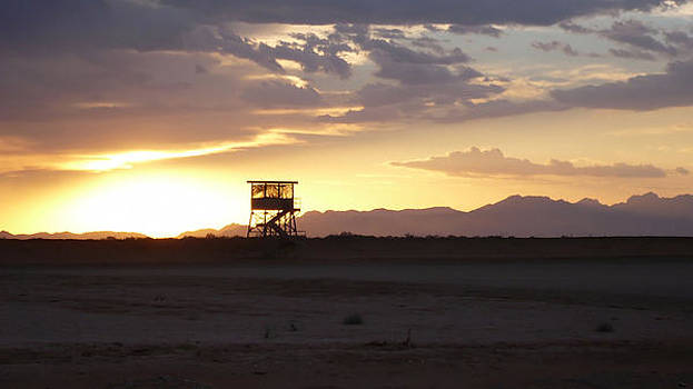Ft. McGregor Base Camp New Mexico Sunset by Thomas  MacPherson Jr
