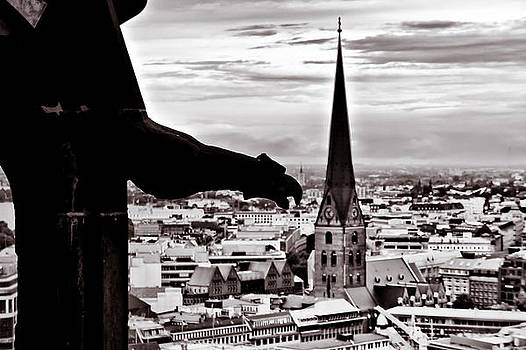 Gargoyle over Hamburg 2 by Edward Myers