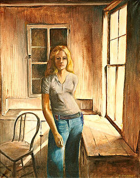 Girl at the Window by Rita Bentley