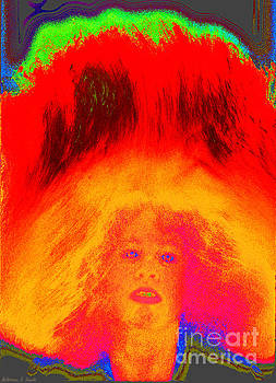 Girl Tossing Her Red Hair 1 by Warren Sarle