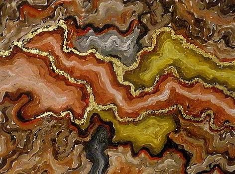 Gold veins by Mats Eriksson