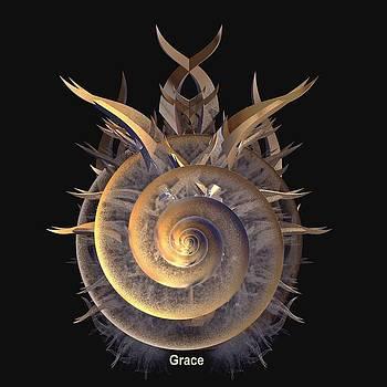 Golden Shell Shield by Julie Grace