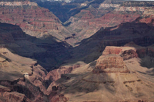 Grand Canyon with Shadows by Wanda Jesfield