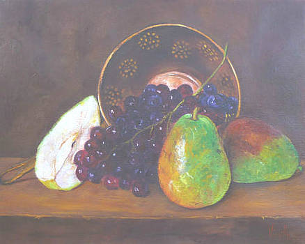 Grapes with Pear Array by Virgilla Lammons