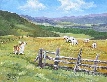 Grazing On Golden Fields by Ann Becker
