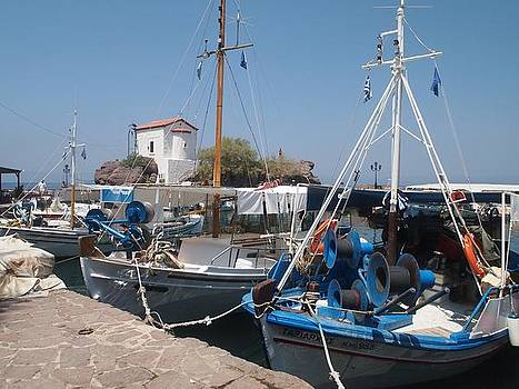 Greek Fisherboats by Guillaume Rodrigue