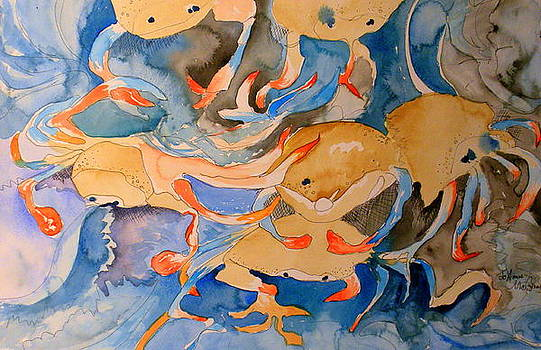 Gulf Coast Crabs by Jo Anna McGinnis