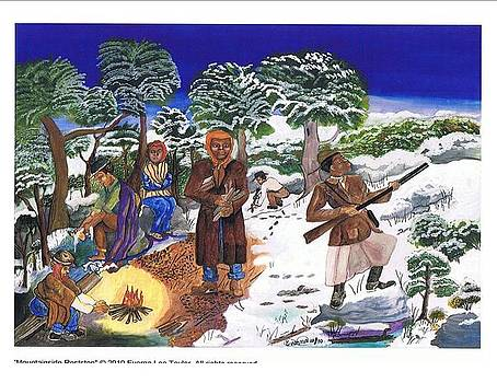 Harriet Tubman-mountain side rest stop by Everna Taylor