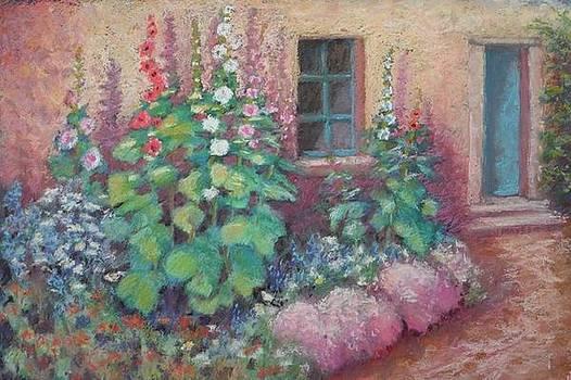 Hollyhocks Revisited by Julie Mayser