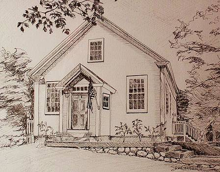 House pen and ink by Susan Gauthier