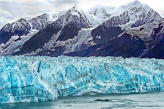 Hubbard Glacier and Mountain Range by Don Mennig