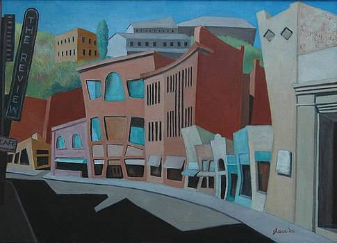 Impresssion Main Street Bizbee Arizona by Lester Glass
