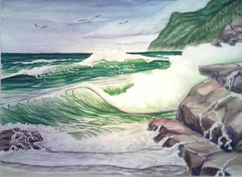 Incoming Waves by Lynwood Pollard