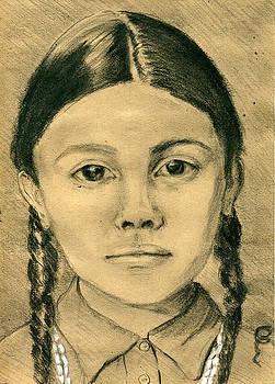 Indian Girl by Lelia Sorokina